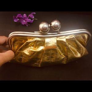 Metallic Gold Kisslock  clutch
